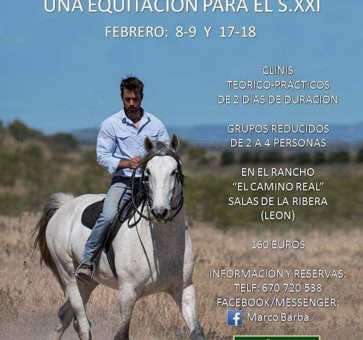 """Clinic """"Una equitación para el s.xxI"""" Febrero 8-9 y 17-18"""