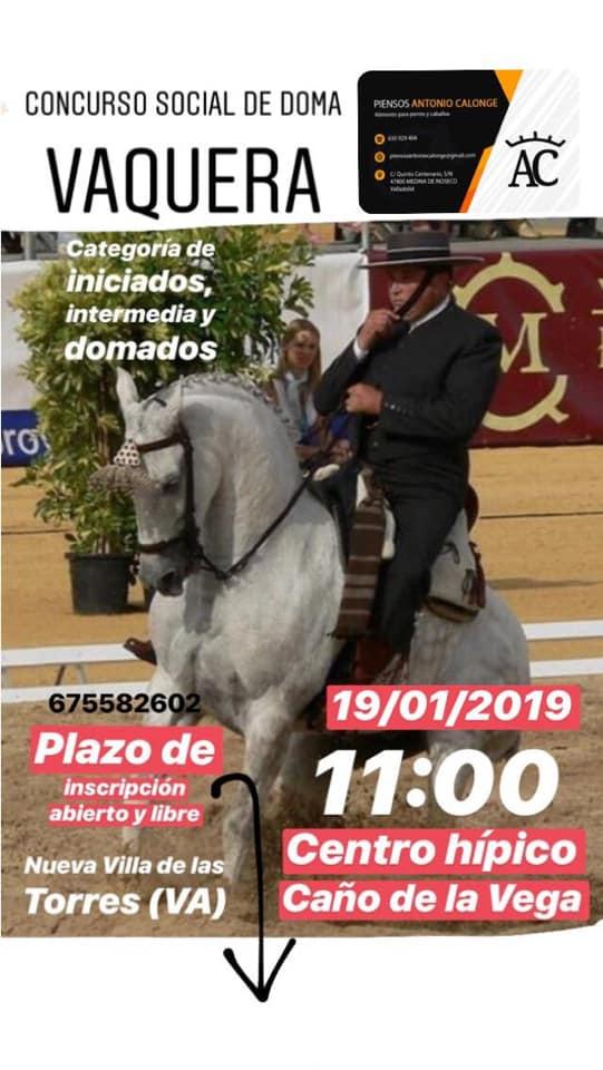 Concurso social Doma Vaquera Centro Hipico Caño de la Vega